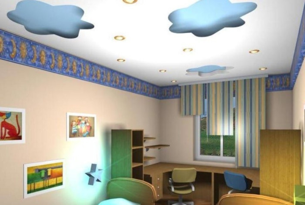 35-Magnificent-Dazzling-Ceiling-Design-Ideas-for-Kids-2015-3 36 Magnificent & Dazzling Ceiling Design Ideas for Kids