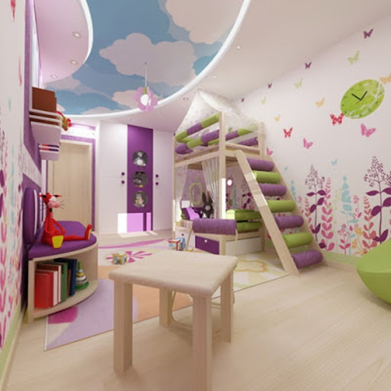 35-Magnificent-Dazzling-Ceiling-Design-Ideas-for-Kids-2015-8 36 Magnificent & Dazzling Ceiling Design Ideas for Kids