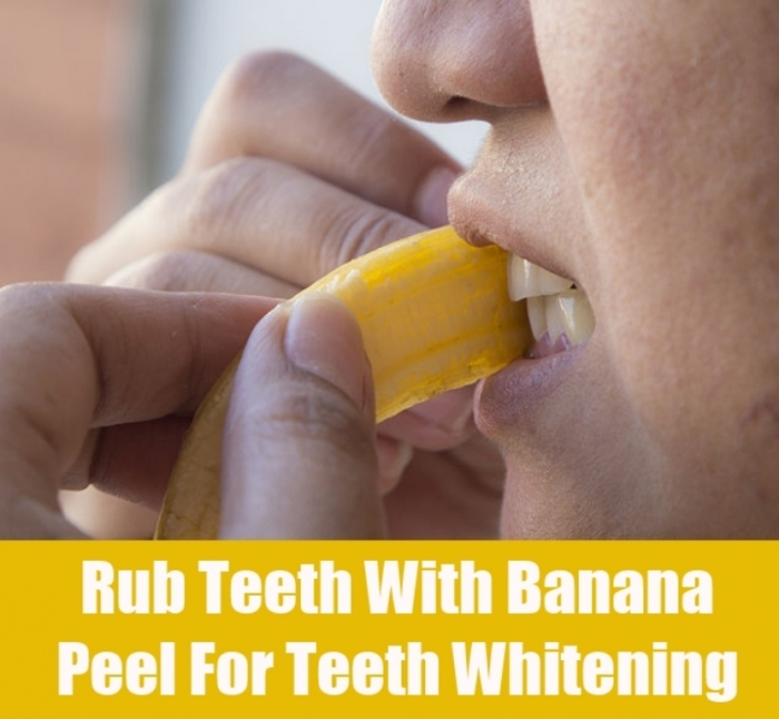 Rub-Teeth-With-Banana How Can I Whiten My Teeth Easily & Naturally?
