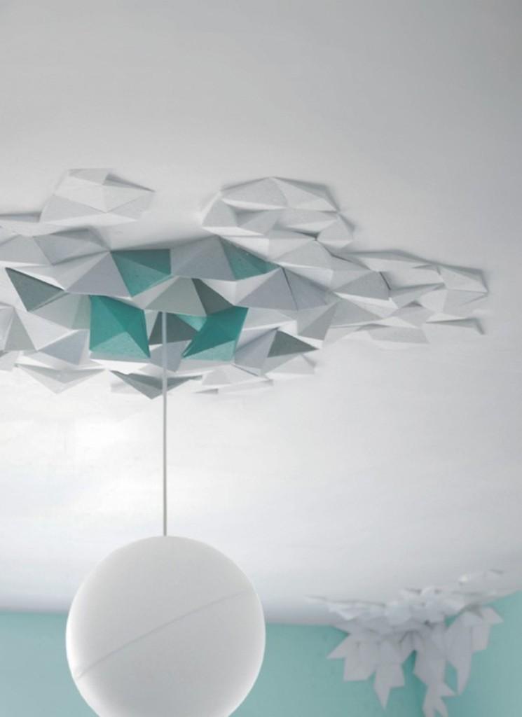 geometric-ceiling 46 Dazzling & Catchy Ceiling Design Ideas 2021