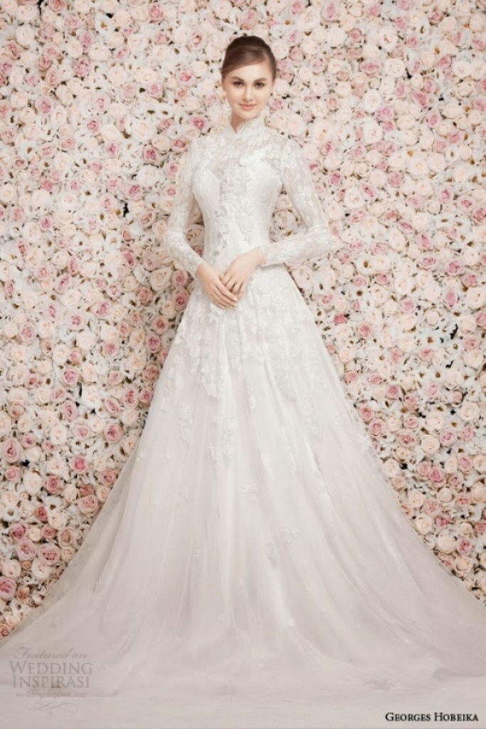32-Awesome-Wedding-Dresses-for-Muslims-2015-11 30+ Awesome Wedding Dresses for Muslims 2019
