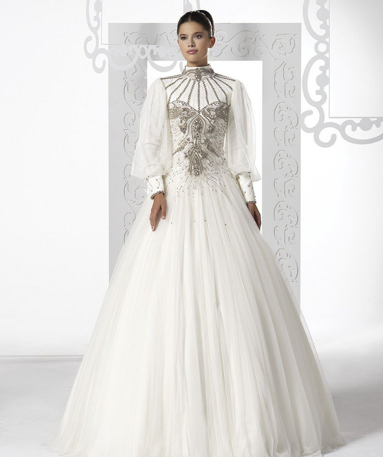 32-Awesome-Wedding-Dresses-for-Muslims-2015-12 30+ Awesome Wedding Dresses for Muslims 2020