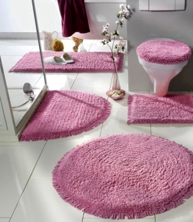47+ Fabulous & Magnificent Bathroom Rug Designs 2019