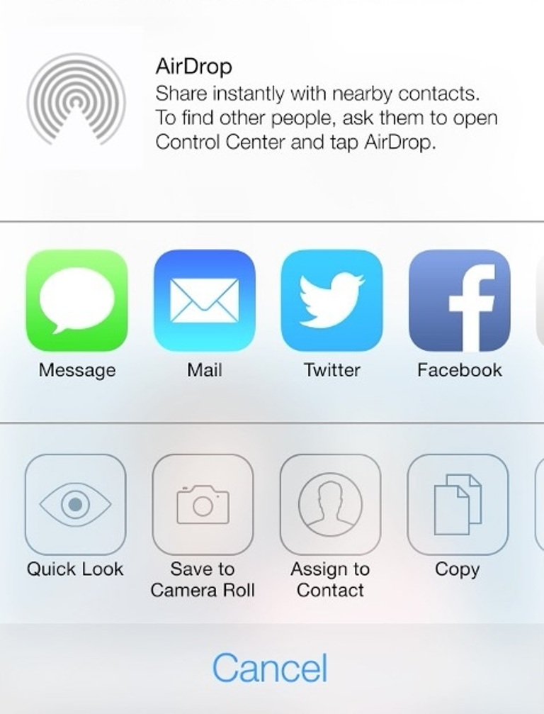Airdrop_menu_iOS Do You Know How to Use AirDrop?