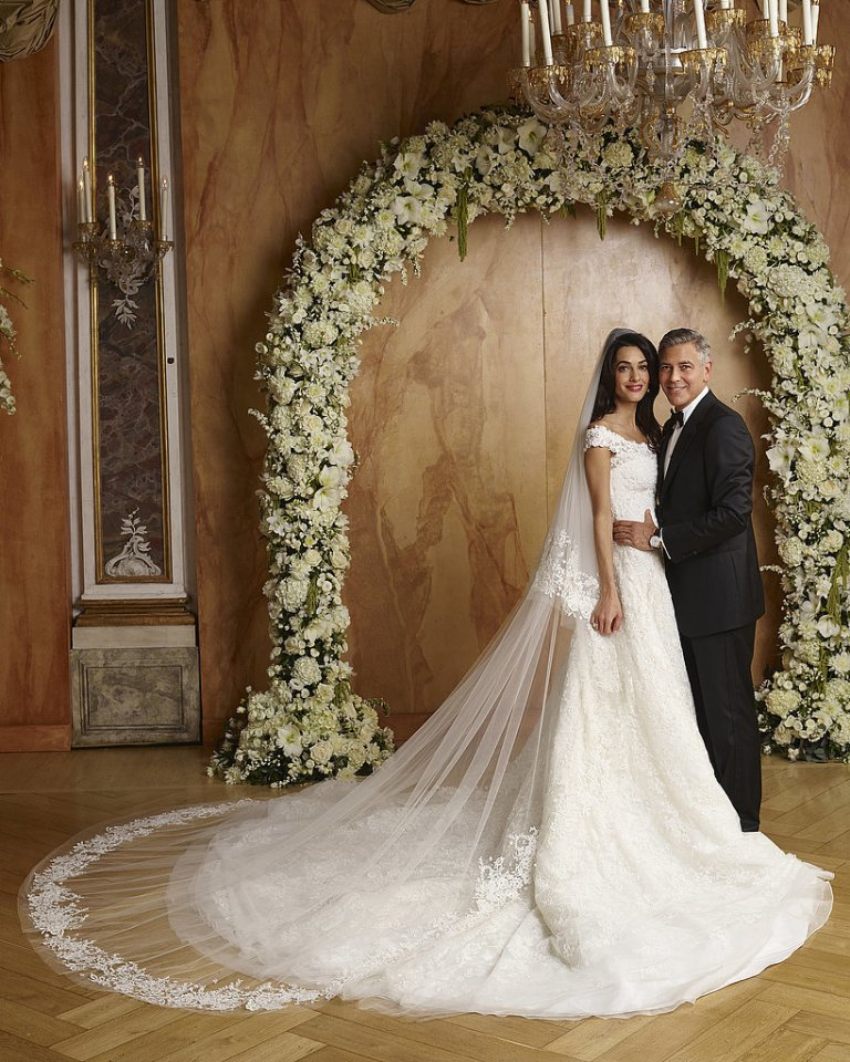Amal-Alamuddin Top 10 Celebrity Weddings of 2014