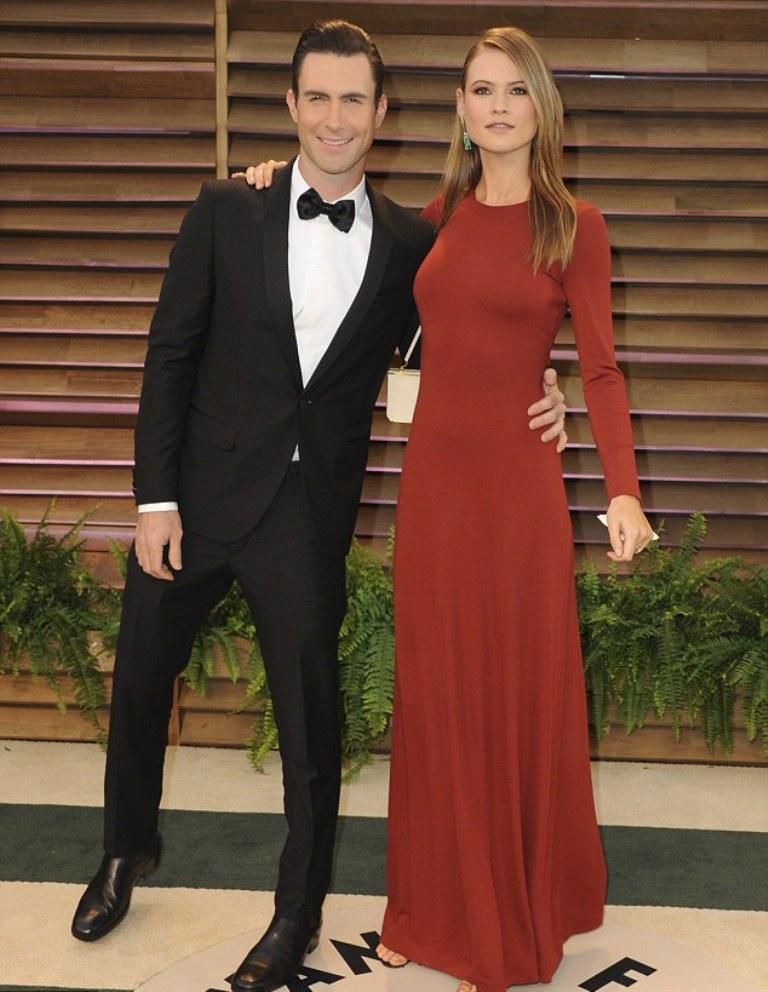 Behati-Prinsloo-and-Adam-Levine-2 Top 10 Celebrity Weddings of 2014
