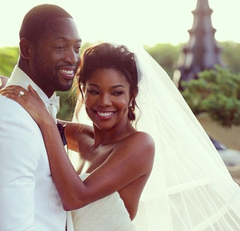 Gabrielle-Union-and-Dwayne-Wade Top 10 Celebrity Weddings of 2014