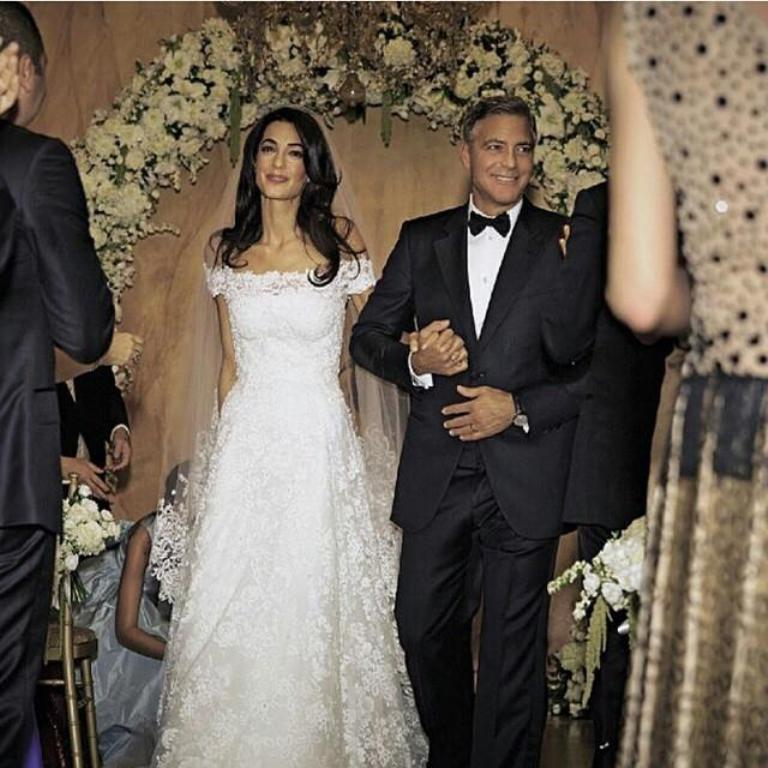 George-Clooney Top 10 Celebrity Weddings of 2014