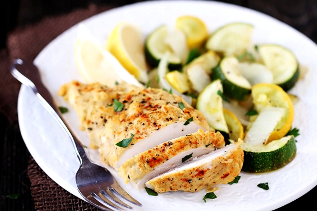 Hummus-Crusted-Chicken 10 Most Delicious & Mouth-Watering Chicken Breast Recipes