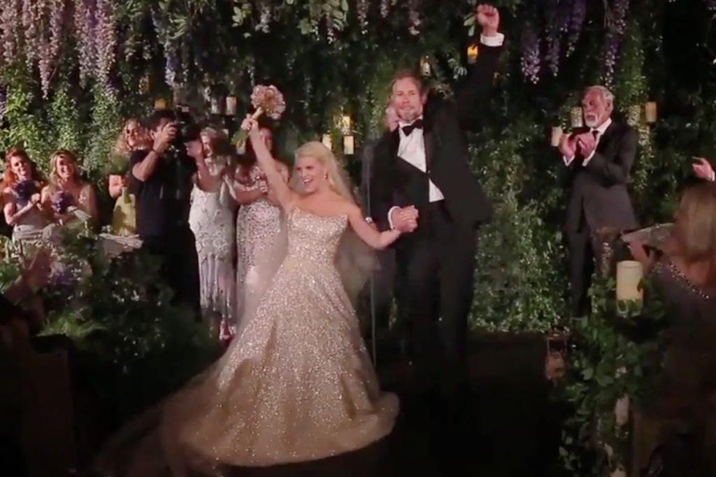Jessica-Simpson-and-Eric-Johnson Top 10 Celebrity Weddings of 2014