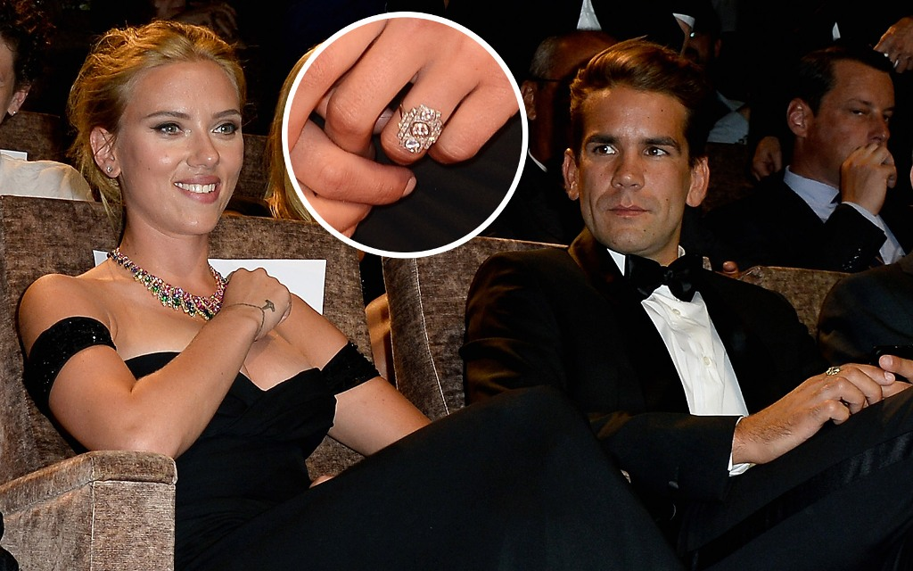 Scarlett-Johansson-and-Roman-Dauriac2 Top 10 Celebrity Weddings of 2014