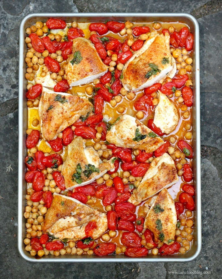 Smoky-Roasted-Chicken-Breasts-with-Tomatoes-and-Chickpeas 10 Most Delicious & Mouth-Watering Chicken Breast Recipes