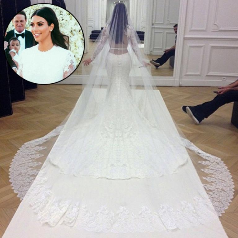 kim-kardashian-kanye-west-wedding-dress Top 10 Celebrity Weddings of 2014