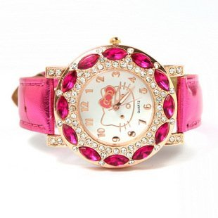 2012-New-Cute-Hello-kitty-Watch-Women-Girl-Watches-Quartz-Wristwatch-Xmas-Gift How To Select Practical, Cheap And Good Quality Watch?
