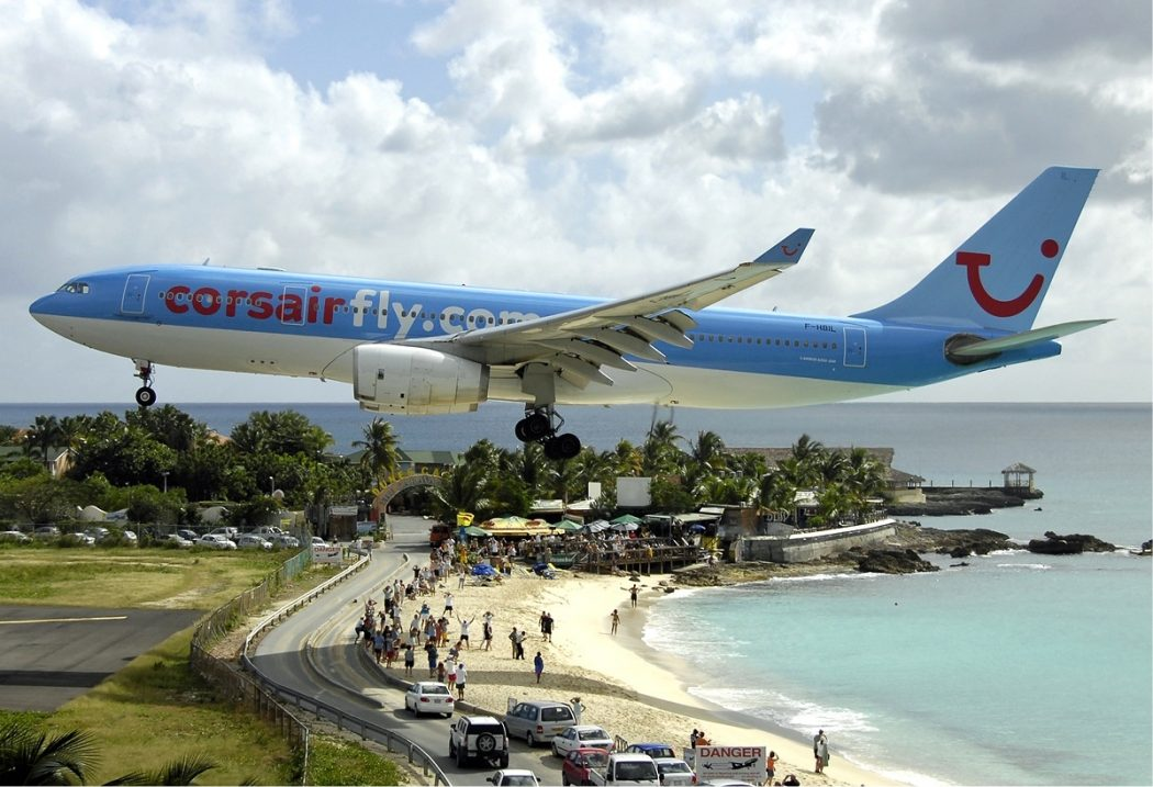 Corsair_Airbus_A330_at_SXM_Bidini Top 10 Weirdest Airport in The World