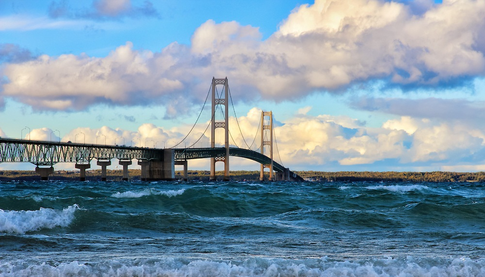 Mackinac-Among-the-Waves Top 10 Biggest Bridges in USA