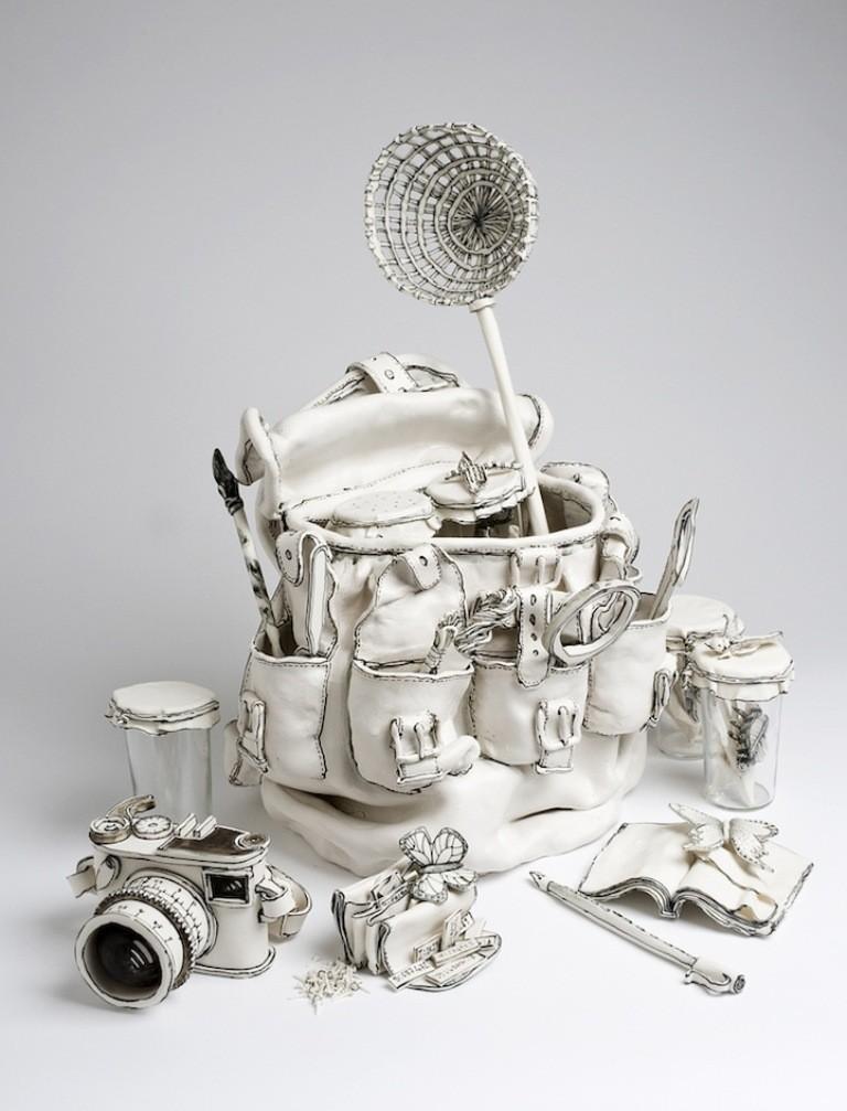 3D-Ceramic-Artworks-that-Look-Like-Pen-Drawings-5 46 3D Ceramic Artworks that Look Like Pen Drawings!