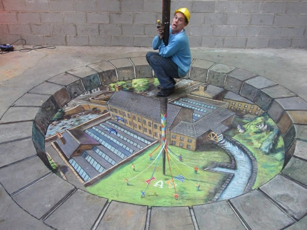 3D-Chalk-Art-Drawings-15 40 Most Fascinating 3D Chalk Art Drawings