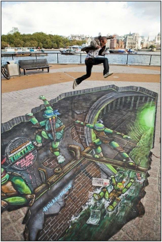 3D-Chalk-Art-Drawings-2 40 Most Fascinating 3D Chalk Art Drawings