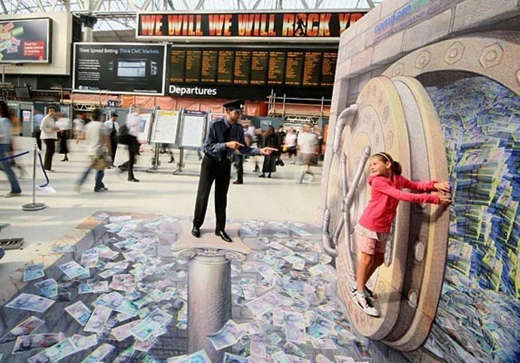 3D-Chalk-Art-Drawings-20 40 Most Fascinating 3D Chalk Art Drawings