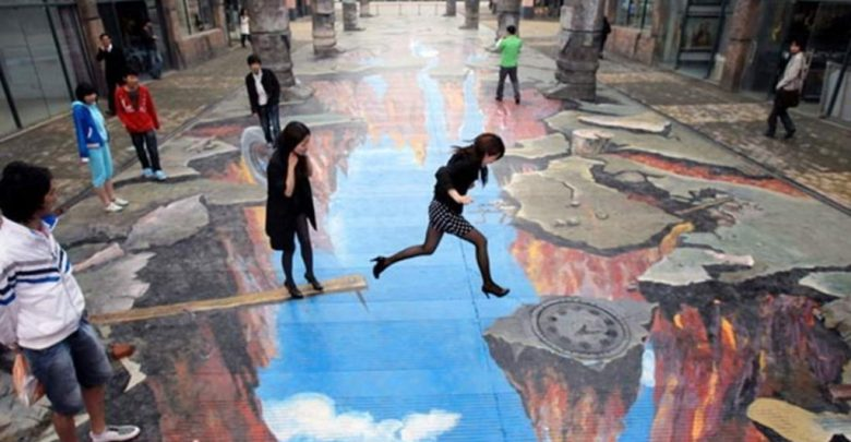Photo of 40 Most Fascinating 3D Chalk Art Drawings