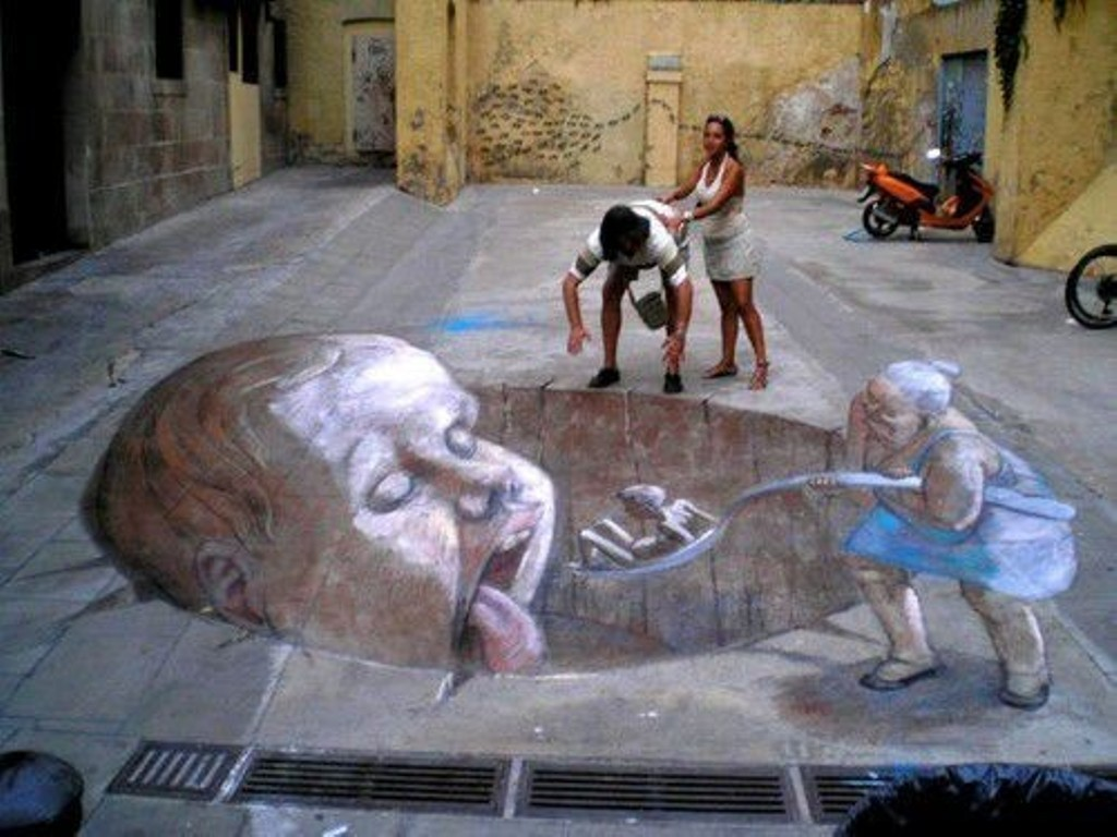 3D-Chalk-Art-Drawings-25 40 Most Fascinating 3D Chalk Art Drawings