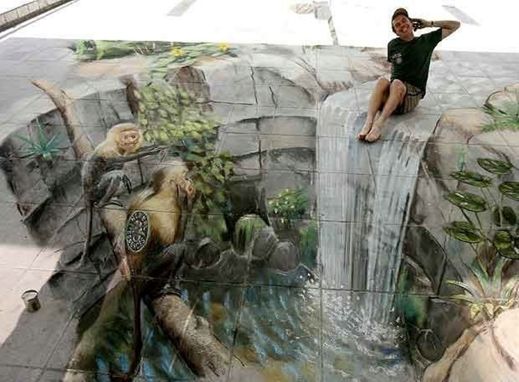 3D-Chalk-Art-Drawings-30 40 Most Fascinating 3D Chalk Art Drawings