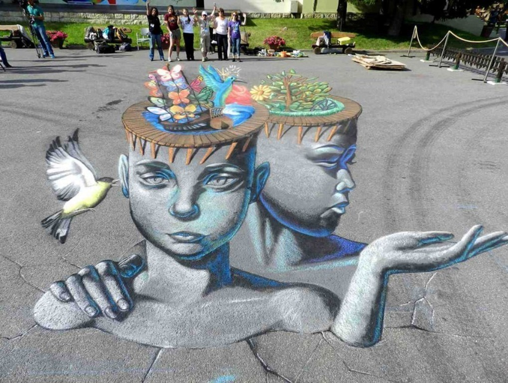 3D-Chalk-Art-Drawings 40 Most Fascinating 3D Chalk Art Drawings