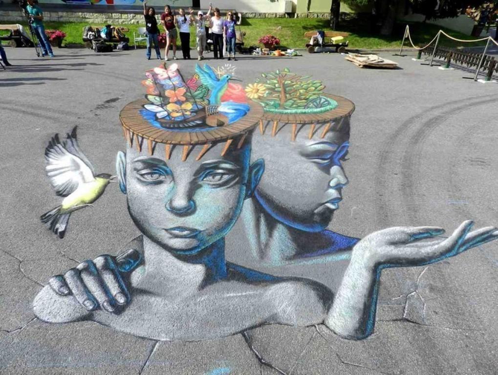 3D-Chalk-Art-Drawings 40 Most Fascinating 3D Chalk Art Drawings