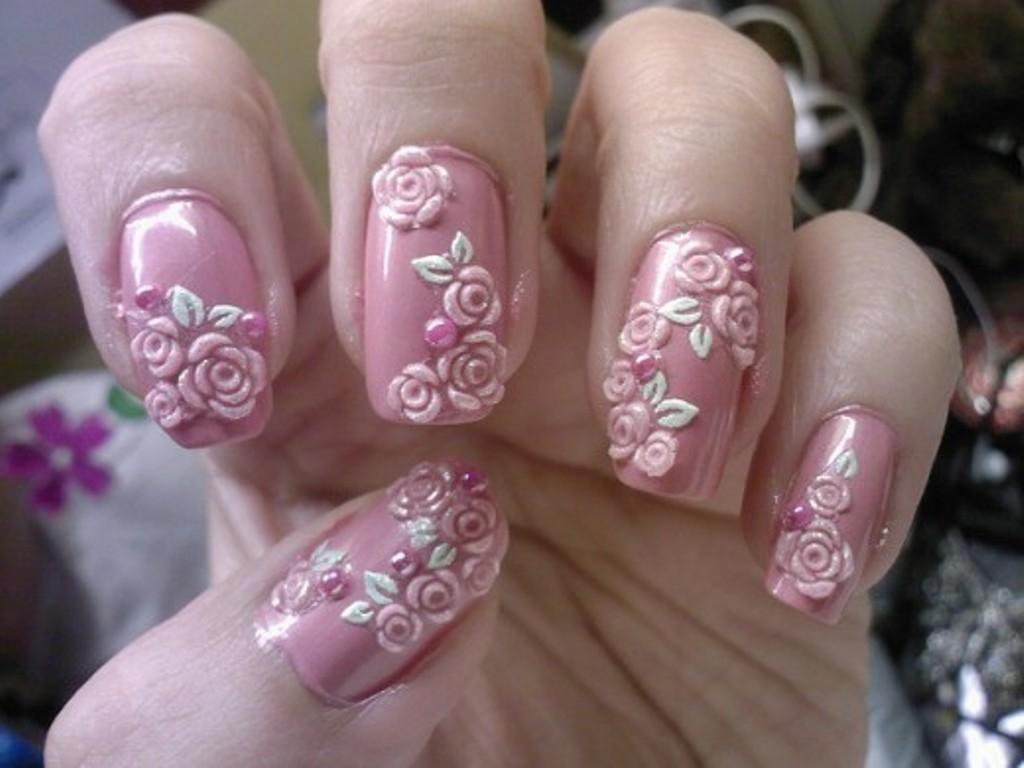 3D-Nail-Art-Designs-12 70 Hottest & Most Amazing 3D Nail Art Designs