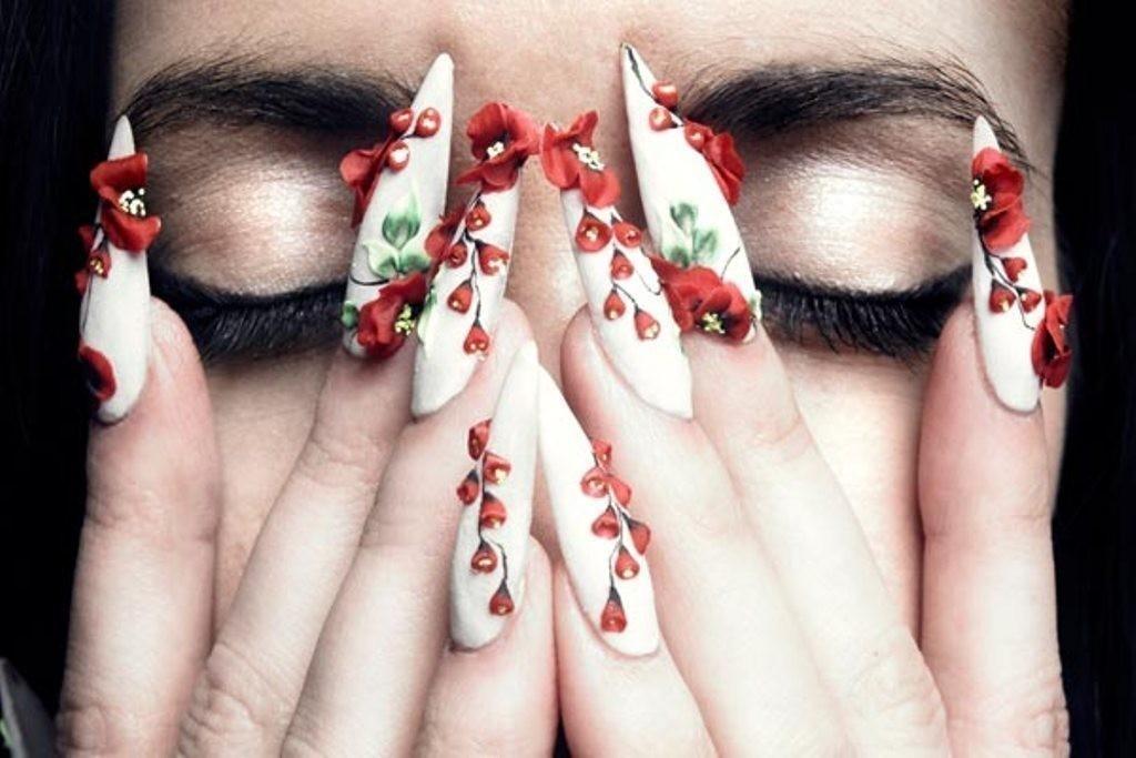 3D-Nail-Art-Designs-35 70 Hottest & Most Amazing 3D Nail Art Designs