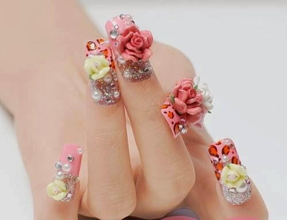3D-Nail-Art-Designs-44 70 Hottest & Most Amazing 3D Nail Art Designs
