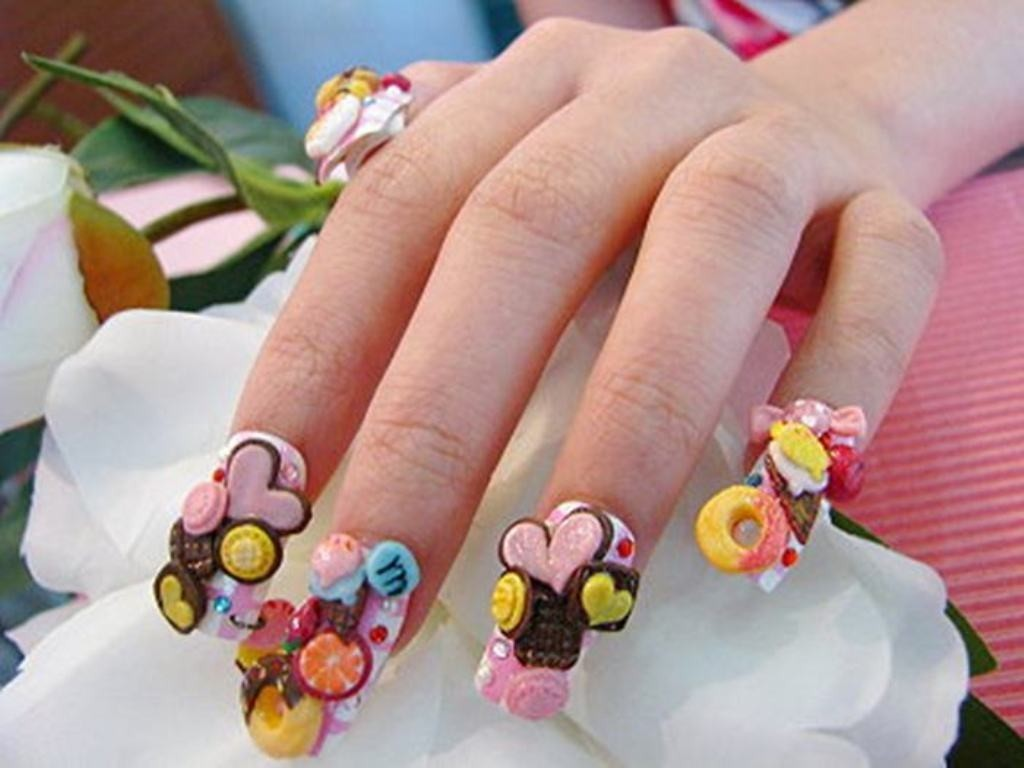 3D-Nail-Art-Designs-48 70 Hottest & Most Amazing 3D Nail Art Designs