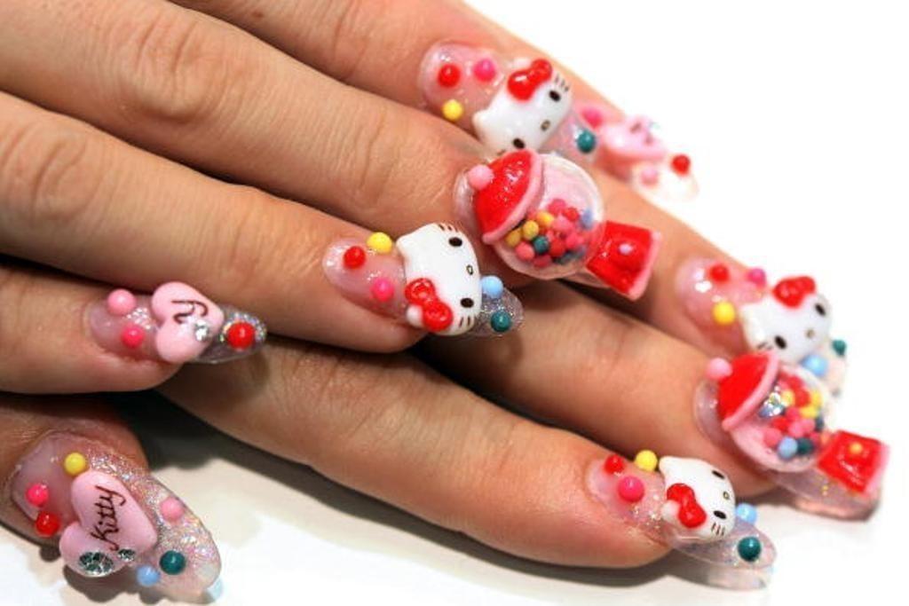 3D-Nail-Art-Designs-53 70 Hottest & Most Amazing 3D Nail Art Designs