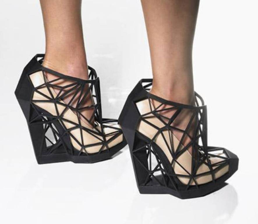 3D-Printed-Shoes-14 64 Strangest & Catchiest 3D Printed Shoes