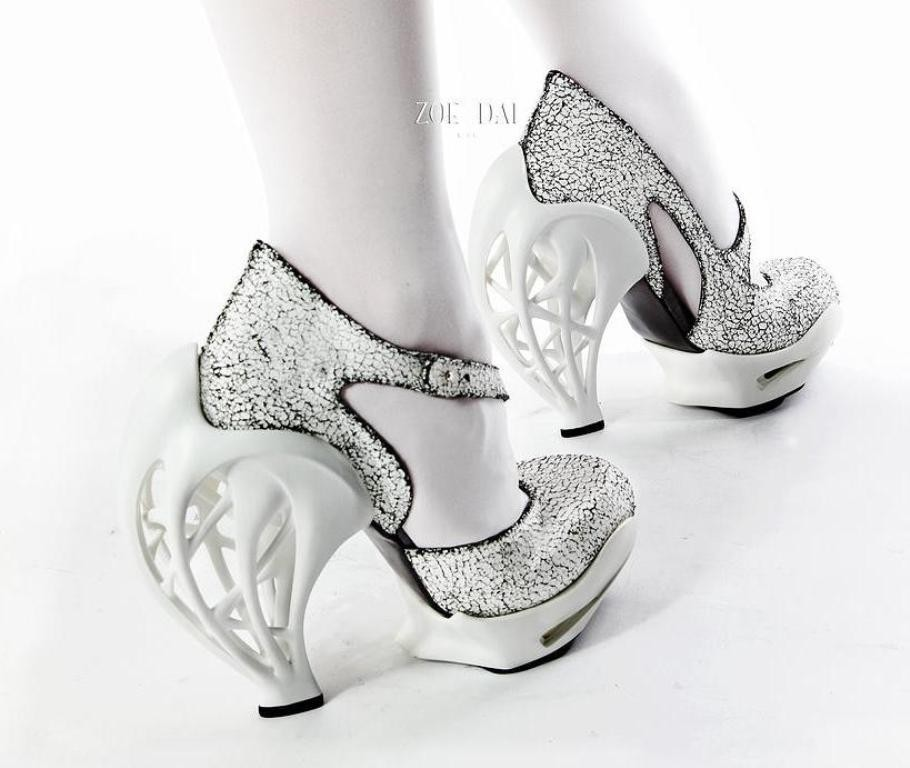 3D-Printed-Shoes-44 64 Strangest & Catchiest 3D Printed Shoes