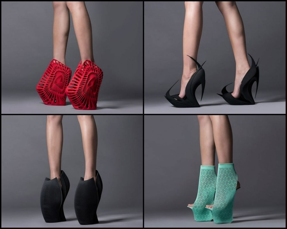 3D-Printed-Shoes-57 64 Strangest & Catchiest 3D Printed Shoes