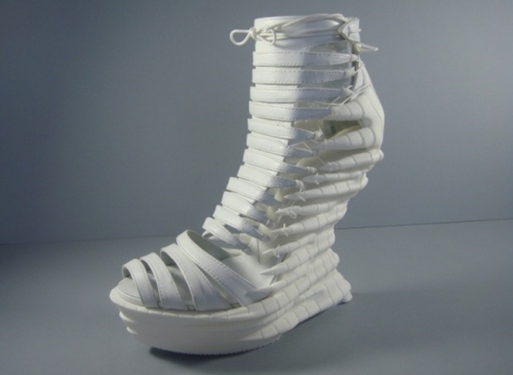 3D-Printed-Shoes-9 64 Strangest & Catchiest 3D Printed Shoes