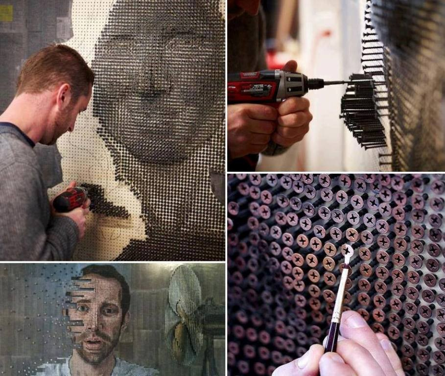 3D-Screw-Portraits 24 Most Dazzling 3D Screw Portraits