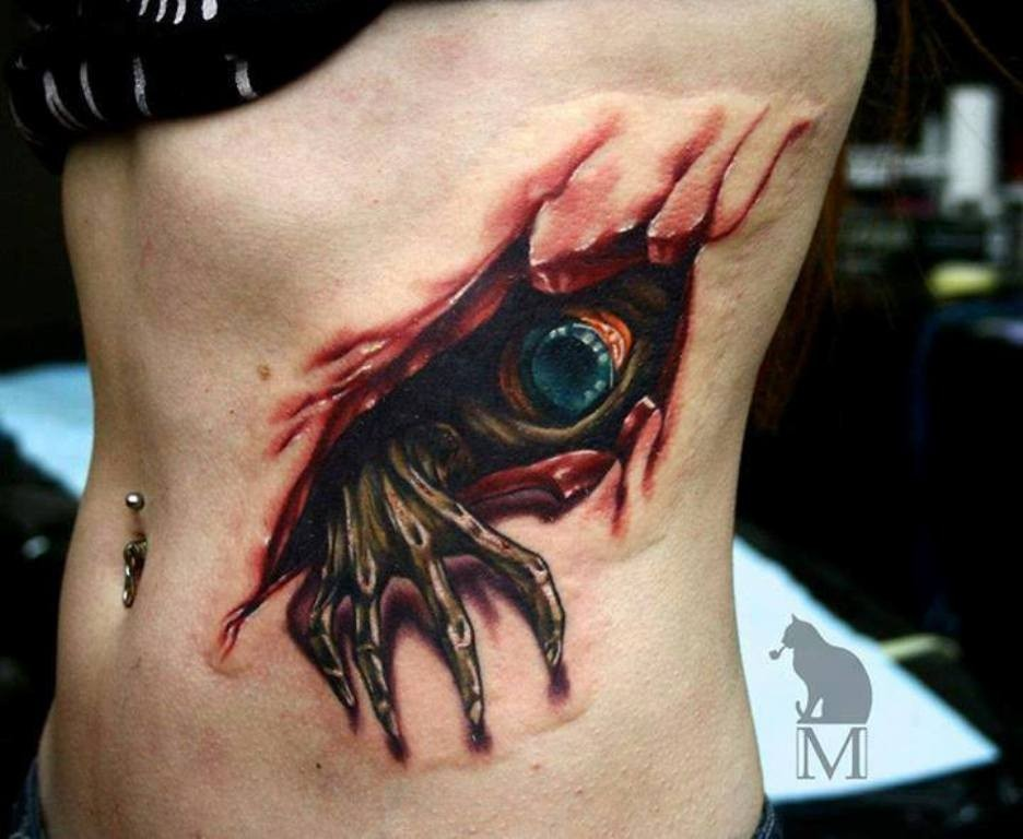 3D-Tattoos-You-Have-Never-Seen-Before-42 55 Most Jaw-Dropping 3D Tattoos You Have Never Seen