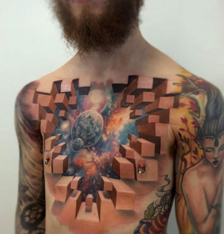 3D-Tattoos-You-Have-Never-Seen-Before-56 55 Most Jaw-Dropping 3D Tattoos You Have Never Seen