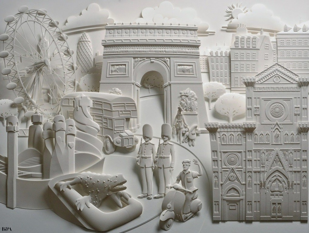 3D-paper-sculpture-art-50 50 Most Unbelievable & Amazing 3D Paper Sculptures