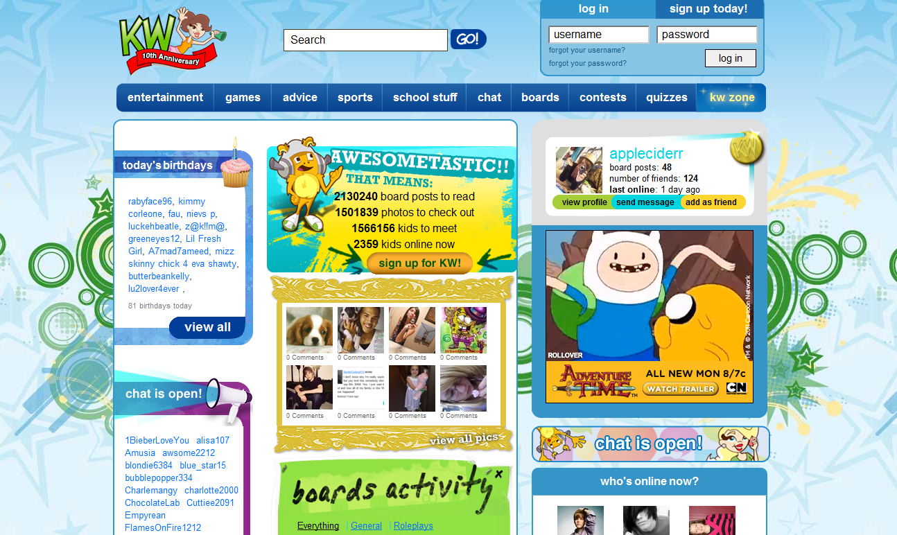 Kidzworld-Kidz-Zone Top 10 Best Websites For Kids in 2015