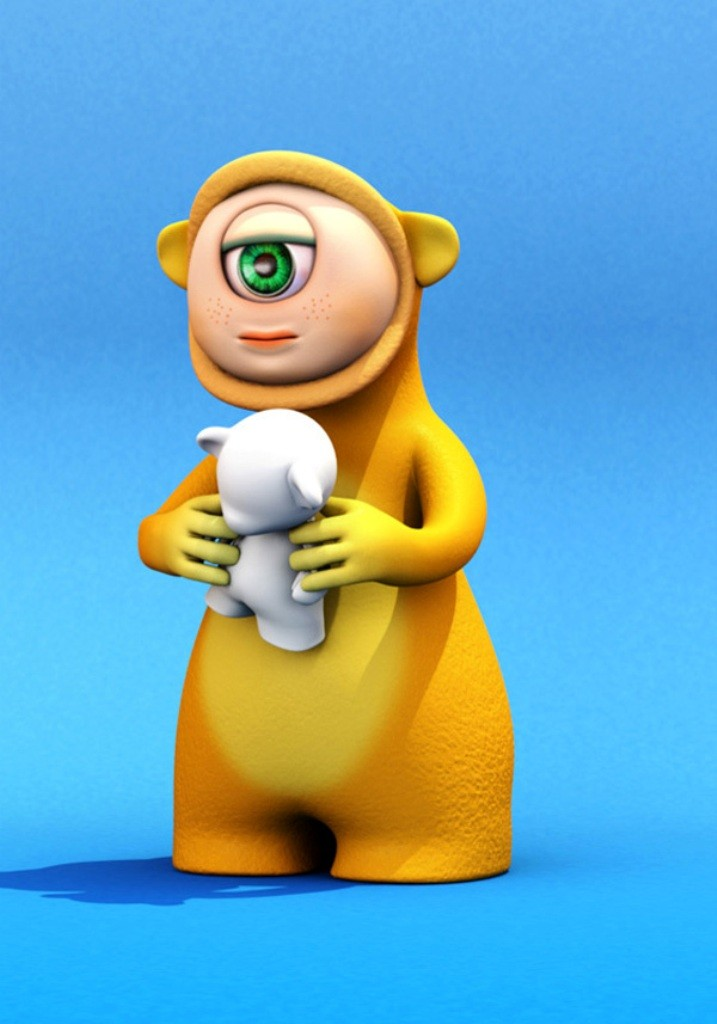 60 Most Beautiful 3D Cartoon Character Designs | Pouted