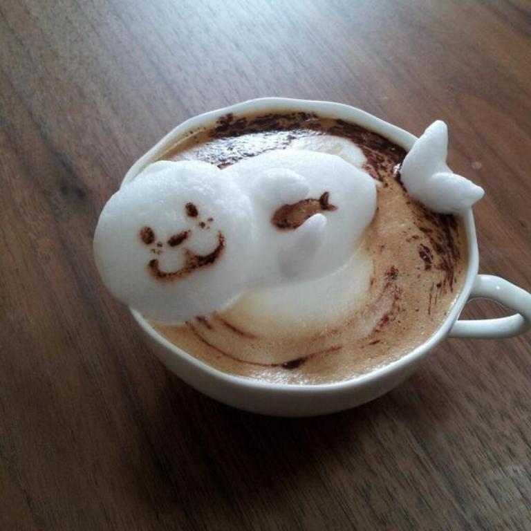 Sculptures-of-3D-Latte-Art-16 32 Most Eye-catching Sculptures of 3D Latte Art