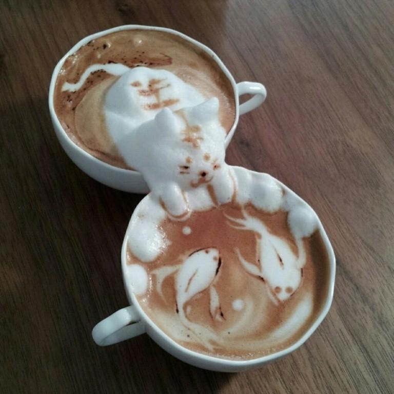 Sculptures-of-3D-Latte-Art-2 32 Most Eye-catching Sculptures of 3D Latte Art