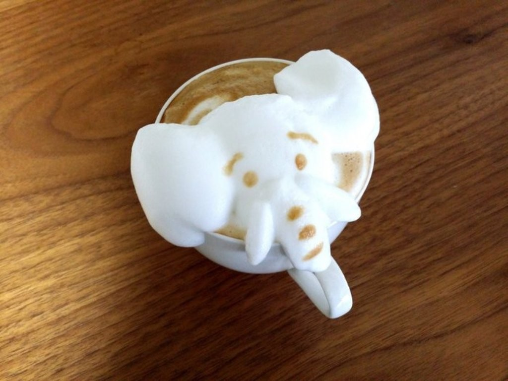 Sculptures-of-3D-Latte-Art-28 32 Most Eye-catching Sculptures of 3D Latte Art