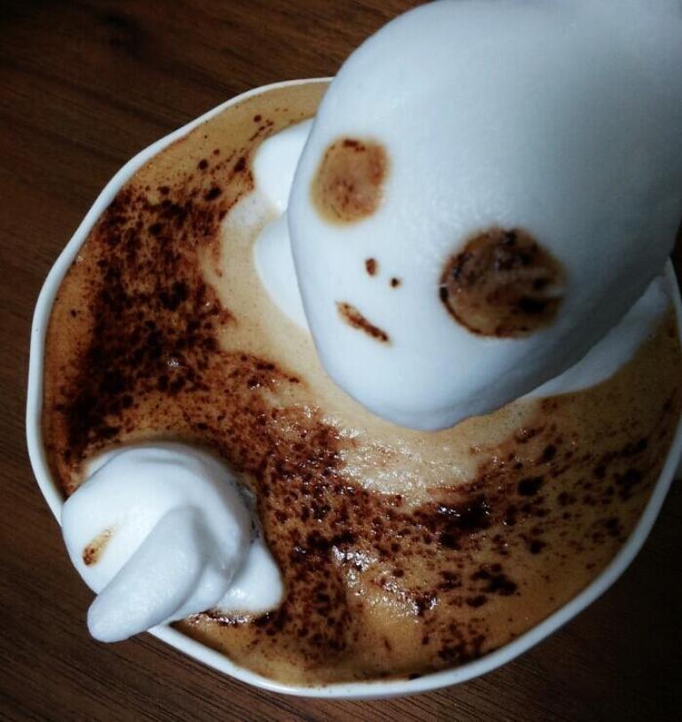 Sculptures-of-3D-Latte-Art 32 Most Eye-catching Sculptures of 3D Latte Art
