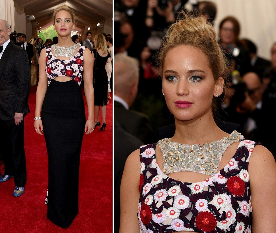 Jennifer-Lawrence-in-Met-Gala-2015 15 Worst Celebrity Hairstyles ... [You Will Be Shocked]