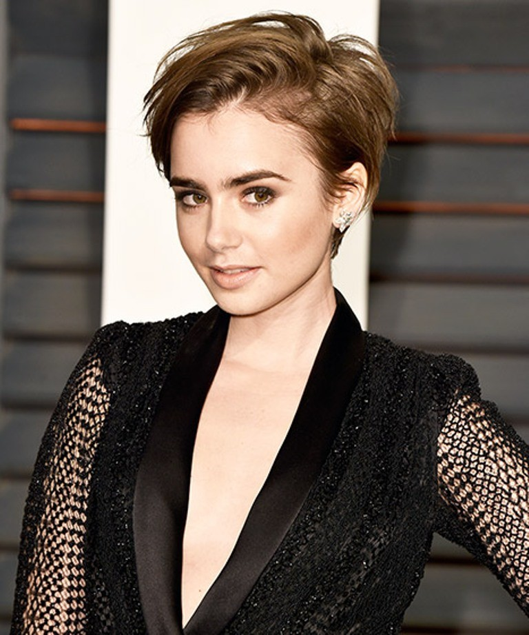 Lily-Collins 15 Worst Celebrity Hairstyles ... [You Will Be Shocked]